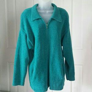 Diane von Furstenberg green wool blend sweater